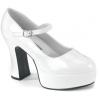 MARYJANE-50X Wide White Patent